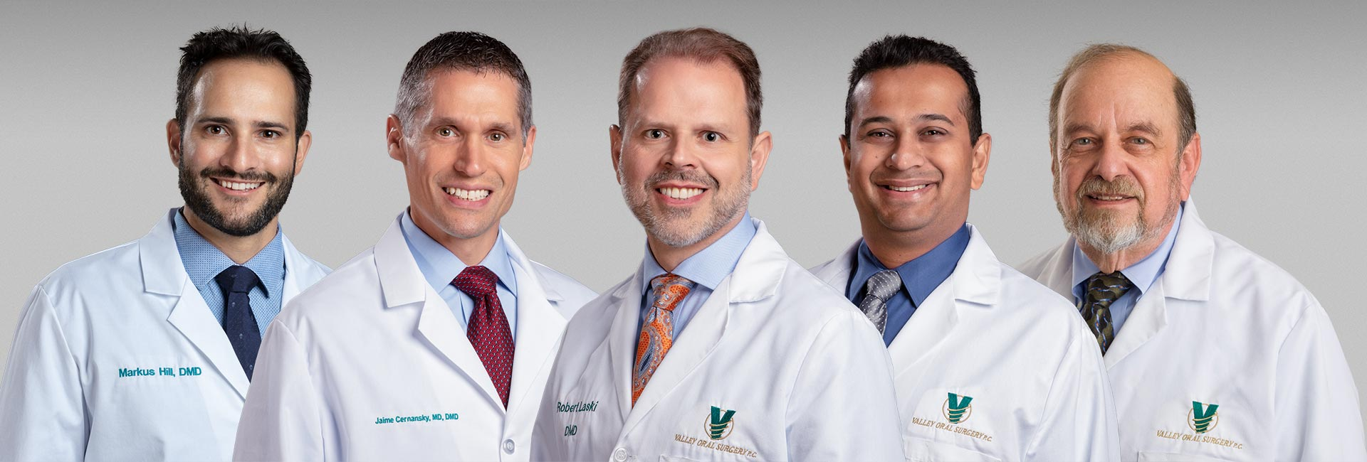 Valley Oral Surgery's oral surgeons.